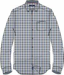 HV Society Overhemd Lange Mouw Adam Ruit Blauw (0404103123 - 5245 - Jetset Blue)