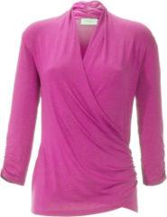 Shirt met V-hals en 3/4-mouwen Van Peter Hahn roze