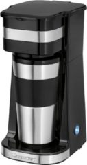 Roestvrijstalen Clatronic KA 3733 Koffiezetapparaat RVS, Zwart Capaciteit koppen: 1