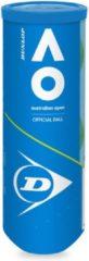 Dunlop dunlop australian open tennisballen 3-pack geel