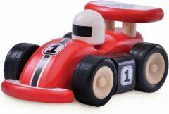 Rode Wonder-World Houten speelgoedvoertuig Raceauto