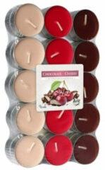 Rode Bispol Geparfumeerde Waxinelichtjes - Chocolade & Kers - 30 Stuks