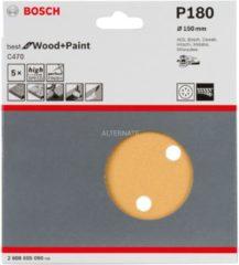 Milwaukee Bosch C470 Schleifblatt, 5er-Pack für Exzenterschleifer 2608605090