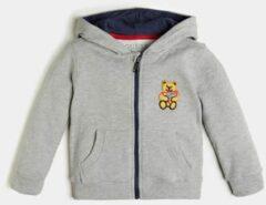Licht-grijze Sweater Borduursel Logo Zijkant