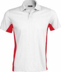 Kariban Heren Poloshirt met korte mouwen (Dual Colour) (Wit/rood)