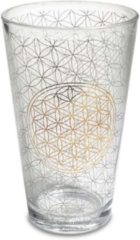 Goudkleurige Yogi & Yogini Drinkglas Bloem des Levens