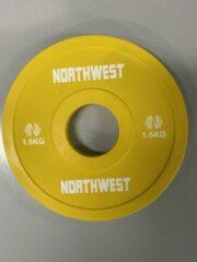 Northwest Fractional Halterschijf   Change Plate   2 x 1.5 KG   Geel