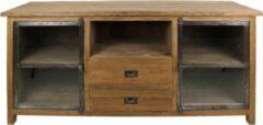 Zwarte HSM Collection TV meubel Hunter - reclaimed teak/ijzer