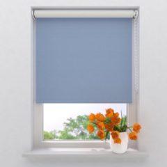 Lichtblauwe Raamdecoratie.com Rolgordijn Easy Verduisterend Light Blue 110 x 190