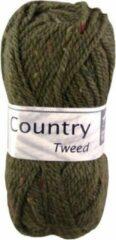 Cheval Blanc Country Tweed wol en acryl garen - groen (057) - pendikte 4 a 4,5 mm - 1 bol van 50 gram