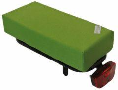 Groene Hooodie kussen Hooodie BIG Cushie Olive Solid zacht en vrolijk fietskussen voor op bagagedrager