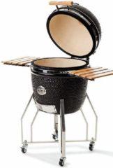 Roestvrijstalen Yakiniku Grill Set - met onderstel en zijtafeltjes - 19 inch - Large