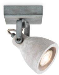 Licht-grijze Light Depot - LED Opbouwspot Vedi - Grijs - Beton - Verstelbaar - Incl. LED spot - ↔ 9,5 cm
