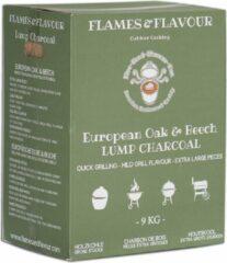 Europees Eiken & Beuken Houtskool 9 KG van Flames & Flavour voor Big groen Egg - Kamado - Kettle BBQ
