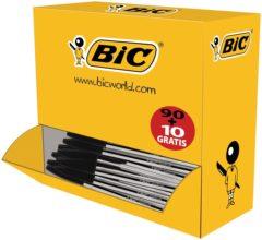 BIC Balpen (wegwerp) Cristal Zwart 0.4 mm Onuitwisbaar: Ja 100 stuks/pack 100 stuk(s) 942911