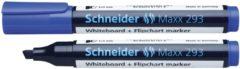 Witte Boardmarker Schneider Maxx 293 beitelpunt 2-5 mm blauw