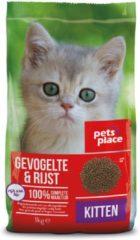 Pets Place Kitten Brokken - Gevogelte - Kattenvoer - 1 kg