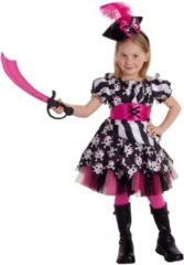 Zwarte Rubie's kinderkostuum piratenjurk meisjes polyester roze maat L