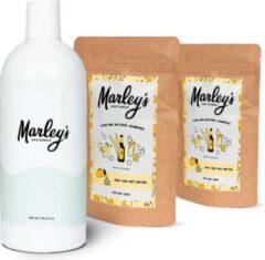 Marley's Amsterdam starterspakket XL   Duurzame en natuurlijke shampoo   Bier & Wierook (x2) + Herbruikbare shampoo fles   Shampoo starterskit   Maak je eigen duurzame en natuurlijke shampoo   Cadeau   Geschenkset   Giftbox