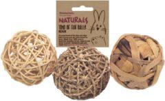 Naturals Knaagspeeltje - Speelgoed - 8 cm 3 stuks Medium