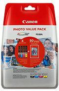 Canon Cartridge CLI-551XL C/M/Y/BK Photo Value Pack Origineel Combipack Zwart, Geel, Cyaan, Magenta 6443B006 Cartridge