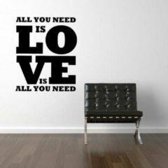 Zwarte Wallstickershop.eu by topmen Muursticker wallstickershop.eu | love is all you need is love
