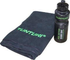 Groene Tunturi Orginele Tunturi fitness machine handdoek en bidon set