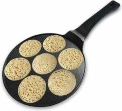 Zwarte BIKO - Pancake pan - Baghrir - Marmercoating met anti-aanbaklaag - Ø 26,5 cm