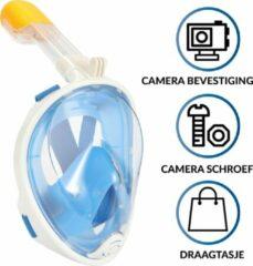 Gadgy Duikmasker Kids - Full face duikbril met snorkel - snorkelset blauw - snorkelmasker