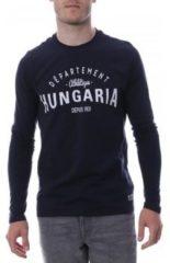 Blauwe T-Shirt Lange Mouw Hungaria