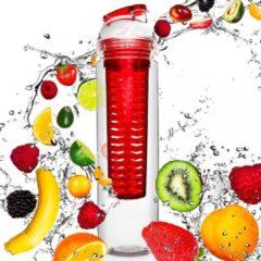 #DoYourFitness - Fruitwater fles - »FruitBottle« - Fruit infuser voor fruitpunches / groente spritzers - 800ml - rood