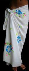 Merkloos / Sans marque Sarong Pareo StrandLaken Hamamdoek Handgeschilderde Bloemen Blauw 100% Beste Kwaliteit Rayon Viscose Wikkeljurk Wikkelrok 115 * 180 cm