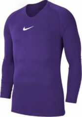 Nike Dry Park First Layer Longsleeve Shirt Thermoshirt - Maat 140 - Unisex - paars