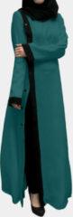 Rode ZANZEA Patchwork Contrast Button Dress
