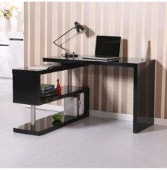 HOMCOM Computertisch Hochglanz Schreibtisch Eckschreibtisch Winkelschreibtisch Winkelschreibtisch Eckschreibtisch Schreibtisch
