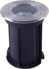 Roestvrijstalen HOFTRONIC Maisy dimbare LED Grondspot rond RVS excl. lichtbron IP67 straal waterdicht 3 jaar garantie