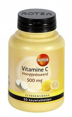 Afbeelding van Roter Vitamine C Hooggedoseerd 500mg Citroen 50 kauwtabletten