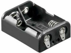 Goobay 10877 Batterijhouder 2 N (lady) Soldeeraansluiting (l x b x h) 38.2 x 27.5 x 14.1 mm