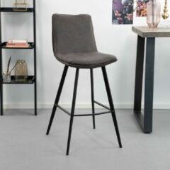 Antraciet-grijze Sohome Barkruk 'Lotte' (zithoogte 75cm), kleur antraciet