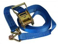 Blauwe Meuwissen Agro Spanband ratelgesp/haken 6mx35mm
