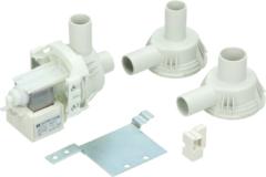 Universeel Ablaufpumpe mit 3 Pumpenstutzen (Magnettechnikpumpe, 30 Watt, mit Halteblech) für Waschmaschinen 285105