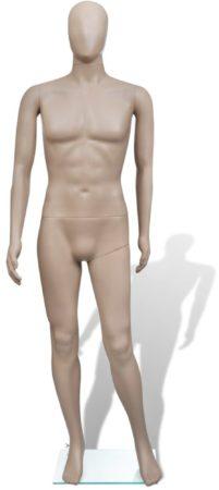 Afbeelding van Beige VidaXL - Paspop Mannelijke etalagepop volledig lichaam zonder gezicht
