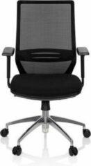 Hjh OFFICE Profondo - Professionele bureaustoel - Zwart - stof / netstof