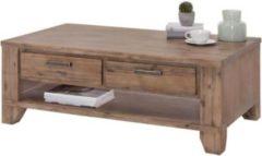 Möbel Ideal Couchtisch Avora aus Massivholz Akazie in Braun