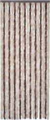 VidaXL - Klamboe Anti-insecten gordijn 90 x 220 cm chenille Bruin-beige