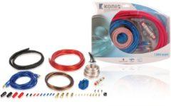 Zwarte König Konig Car Audio kabelset voor 1200 Watt systemen