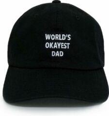 Witte Dad Brand Pet WORLD'S OKAYEST DAD - Premium Baseball Cap - Zwart - One-Size Dad Pet Heren