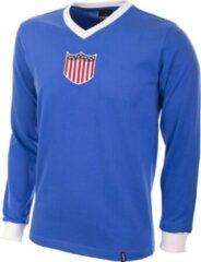Blauwe Copa Retro voetbalshirt USA 1934 maat M