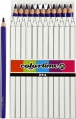 Colortime Kleurpotloden, vulling: 5 mm, paars, Jumbo, 12 stuks