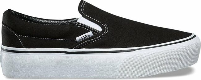 Afbeelding van Vans Dames Sneakers Classic Slip On Platform - Zwart - Maat 41